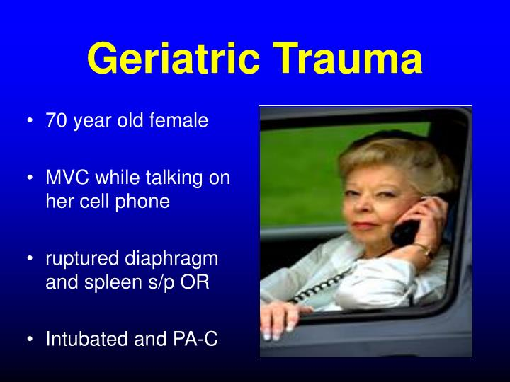 Geriatric Trauma
