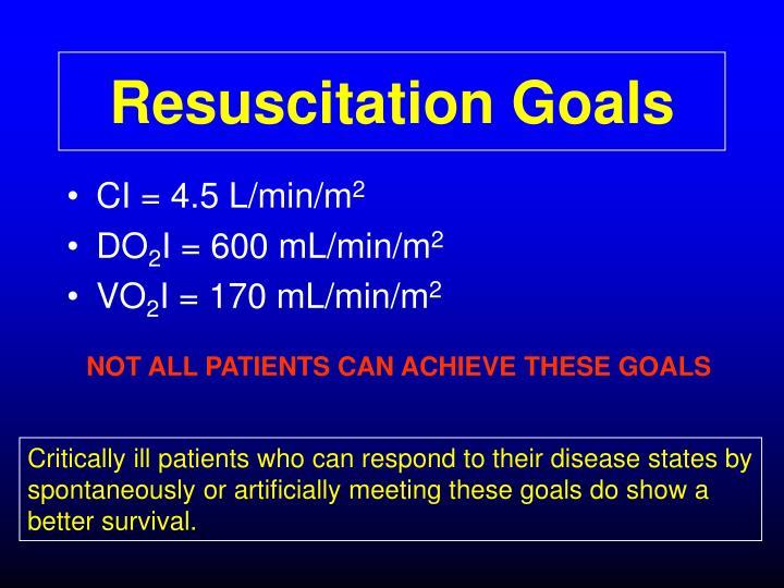 Resuscitation Goals
