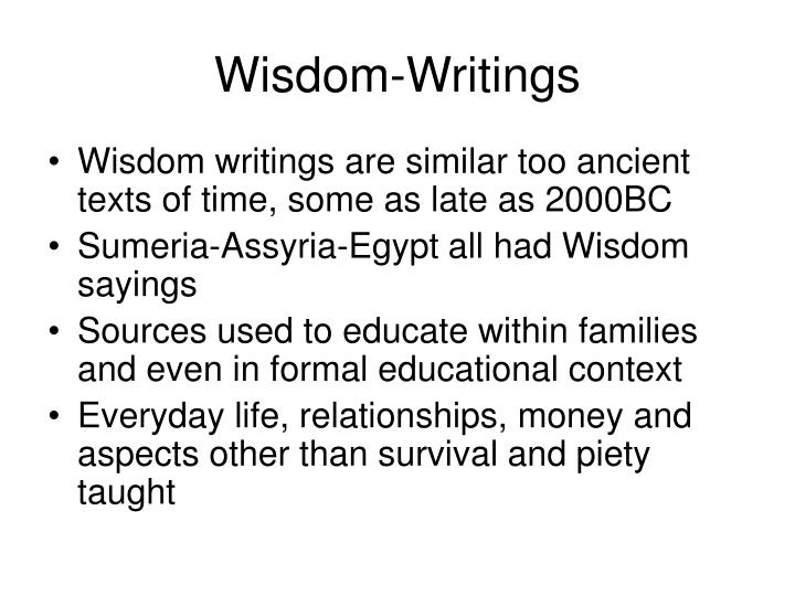 Wisdom-Writings