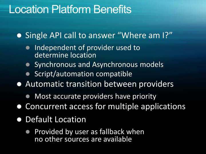 Location Platform Benefits
