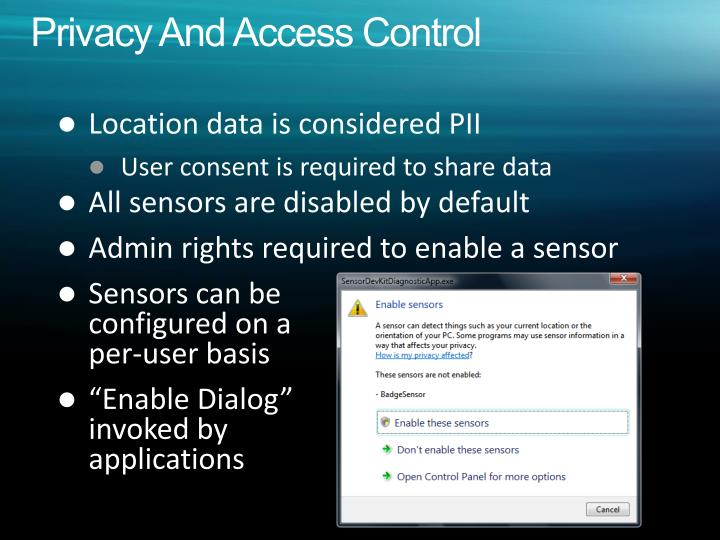 Privacy And Access Control