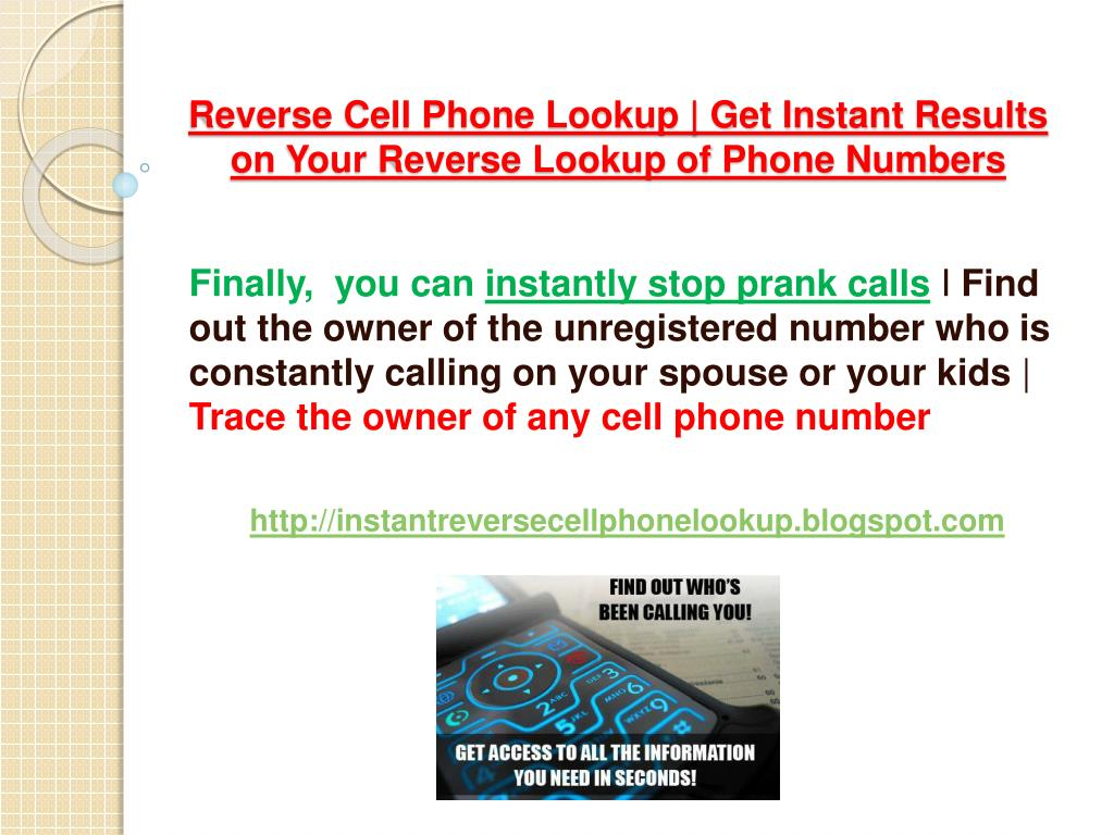 Reverse Cell Phone Lookup | Get Instant Results on Your Reverse Lookup of Phone Numbers