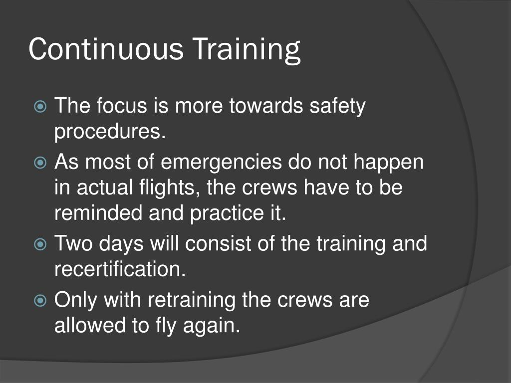 Continuous Training