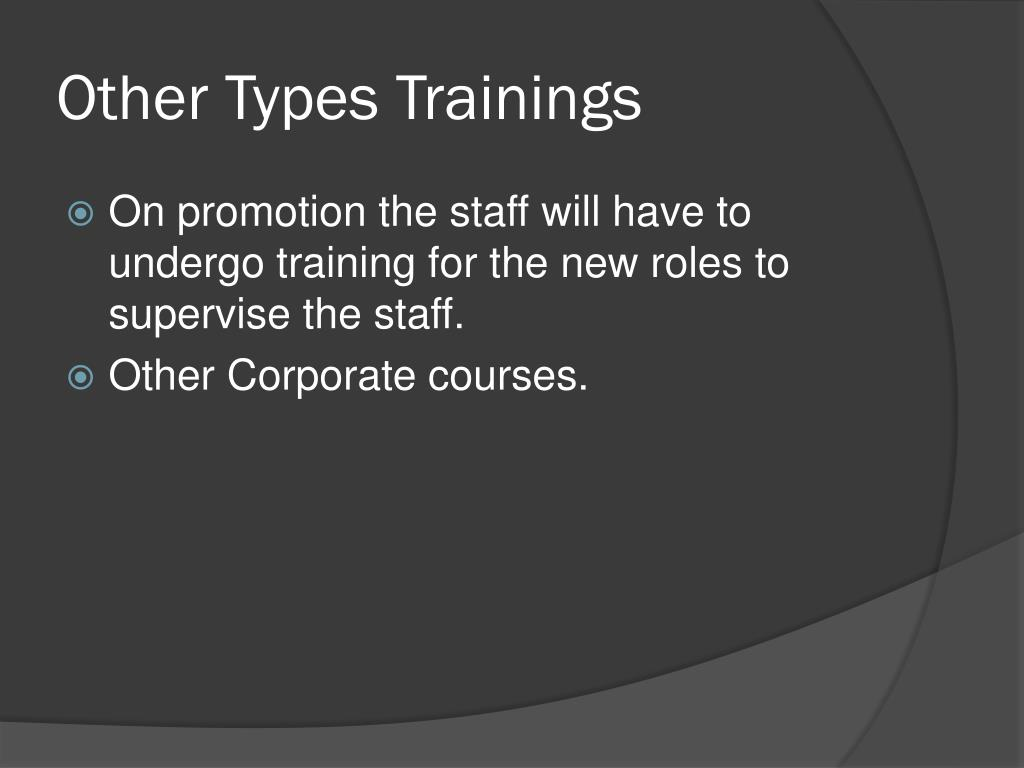 Other Types Trainings