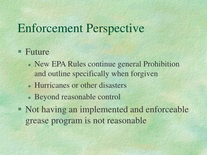 Enforcement Perspective