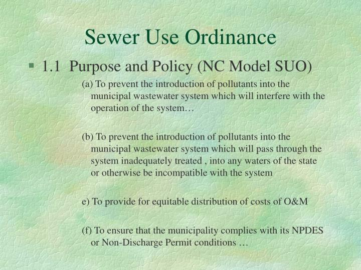 Sewer Use Ordinance