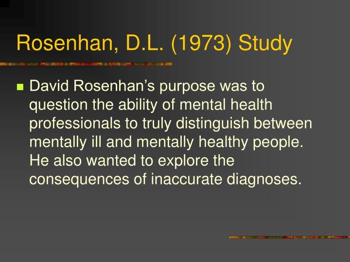 Rosenhan, D.L. (1973) Study