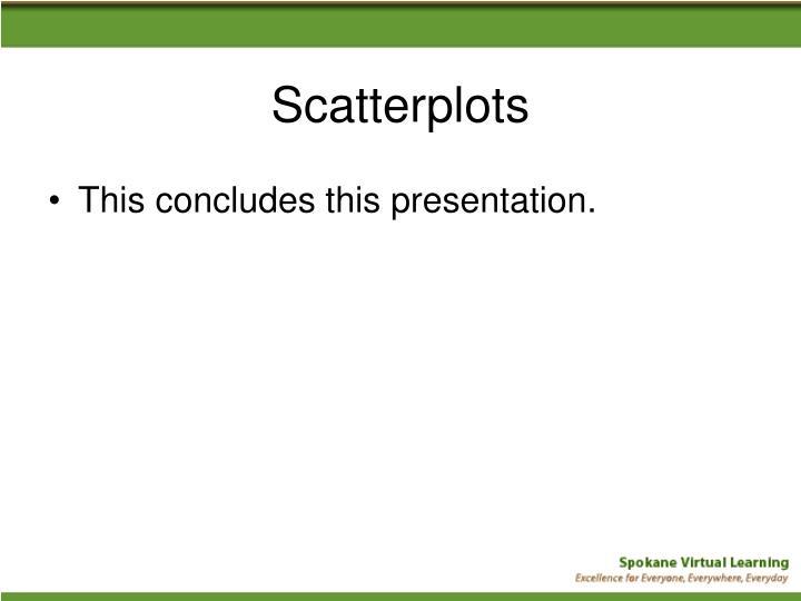 Scatterplots