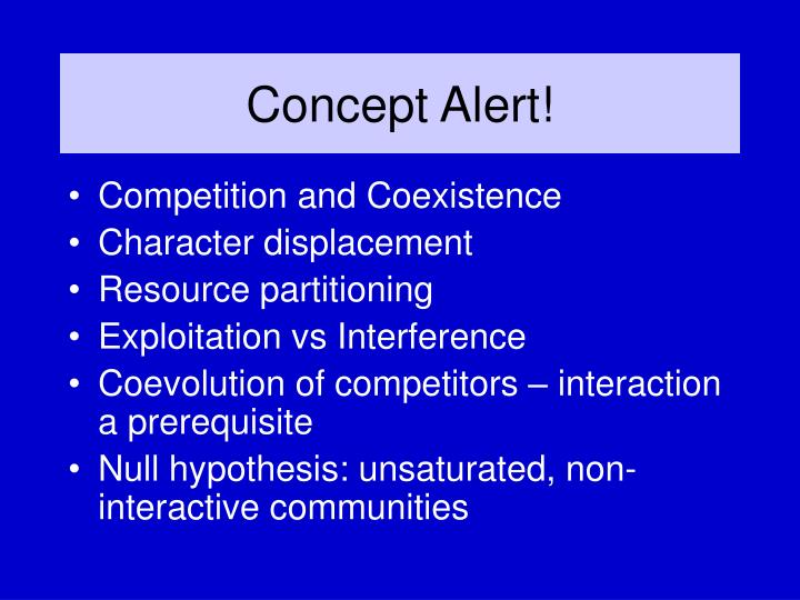 Concept Alert!