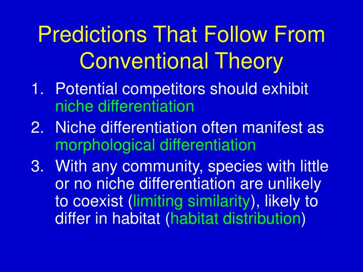 Predictions That Follow From Conventional Theory