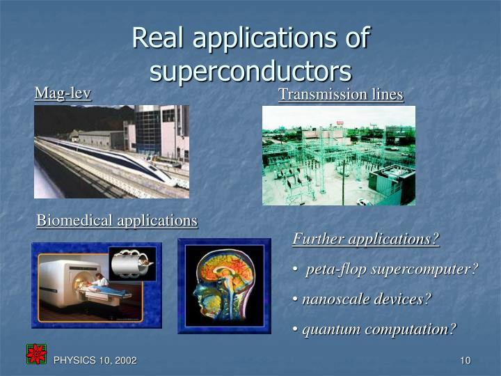 Real applications of superconductors