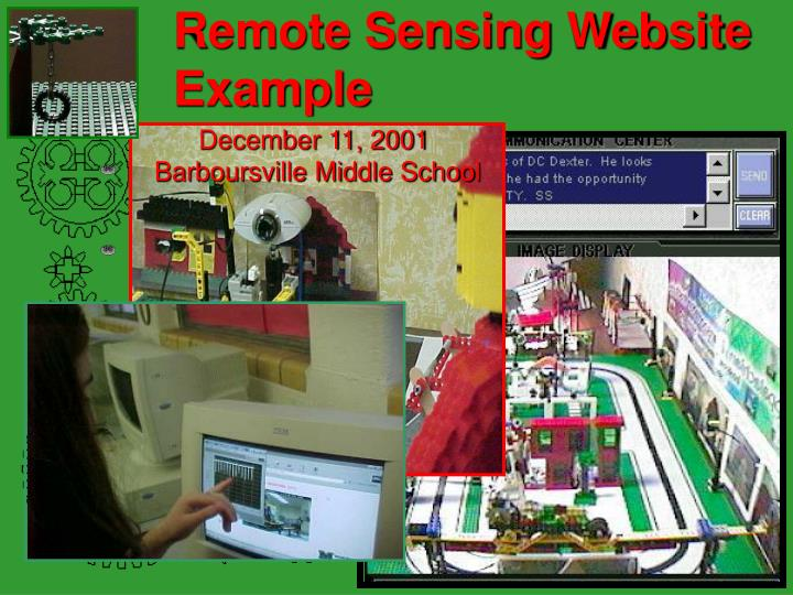 Remote Sensing Website Example