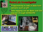 robolab investigator
