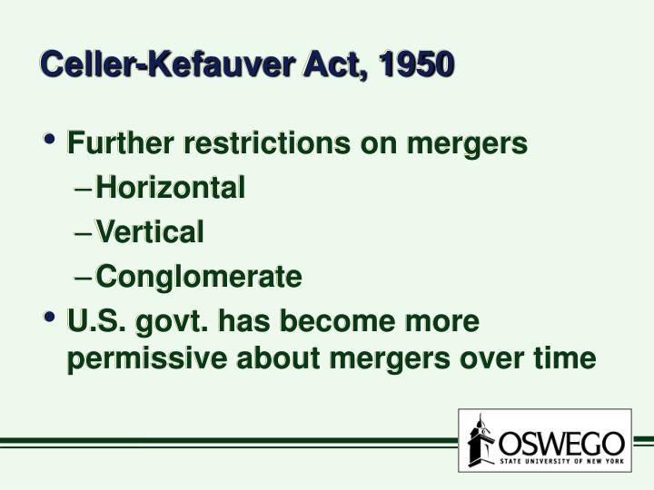 Celler-Kefauver Act, 1950