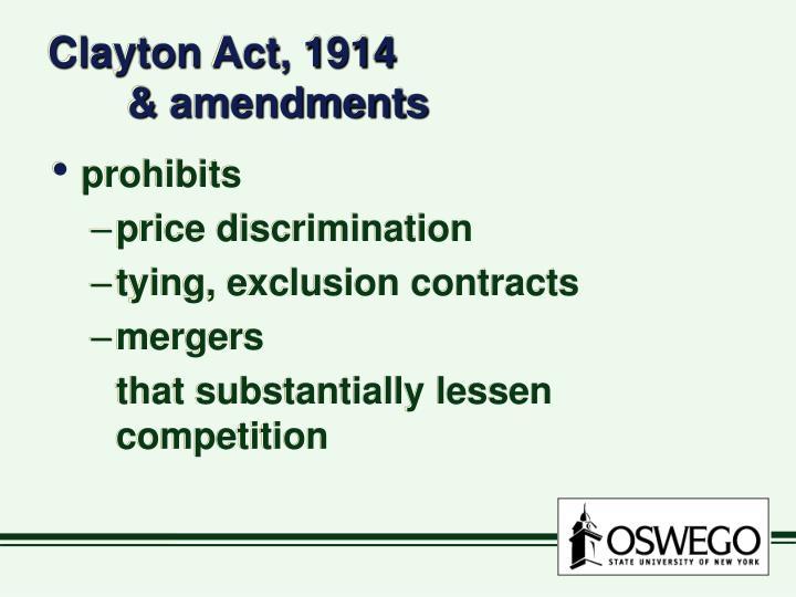 Clayton Act, 1914