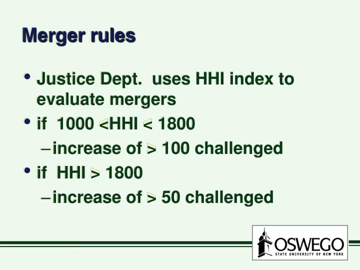 Merger rules