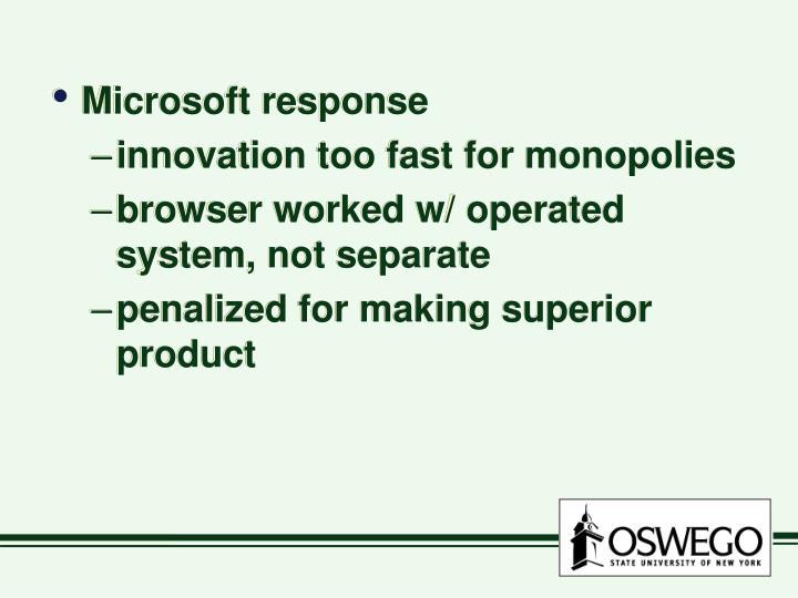 Microsoft response
