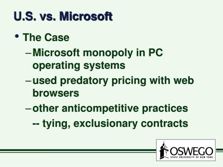 U.S. vs. Microsoft