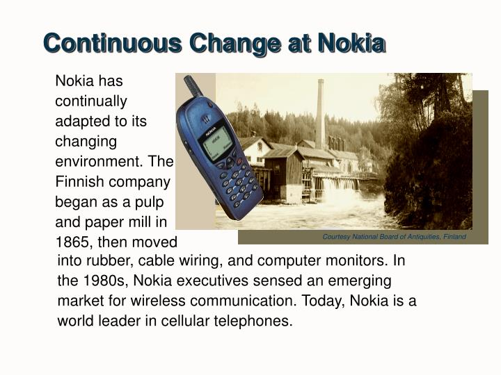 Continuous Change at Nokia