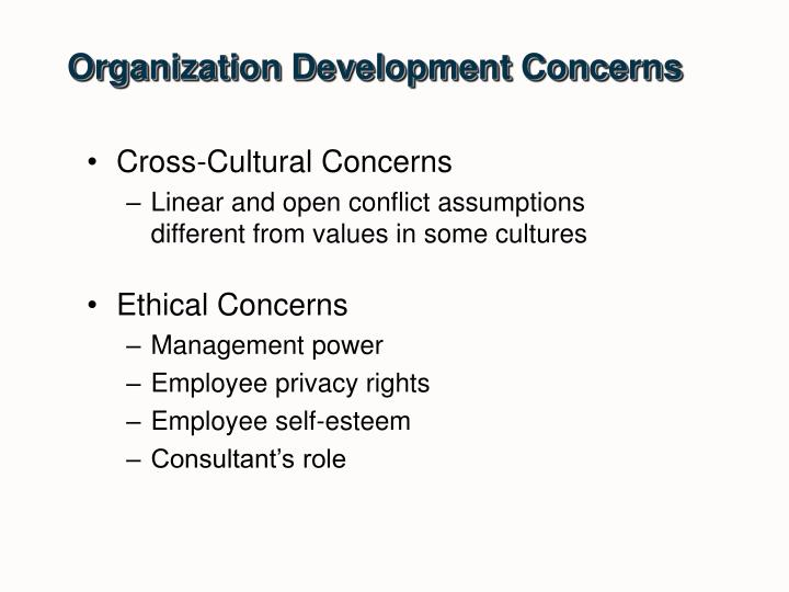 Organization Development Concerns
