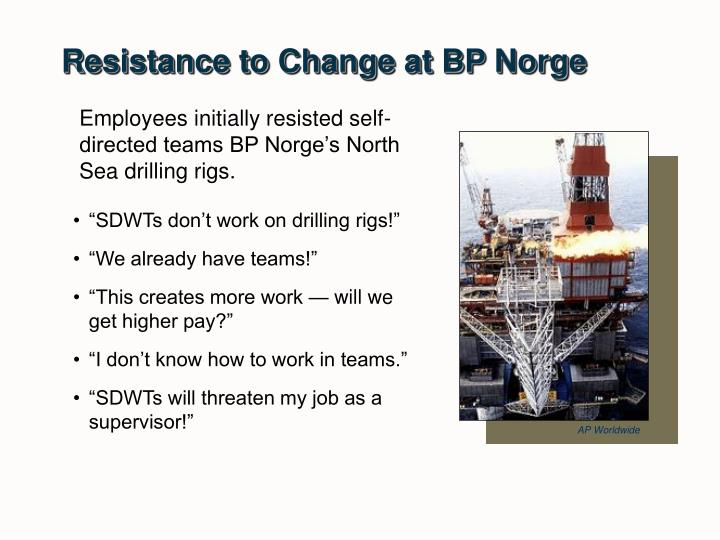 Resistance to Change at BP Norge