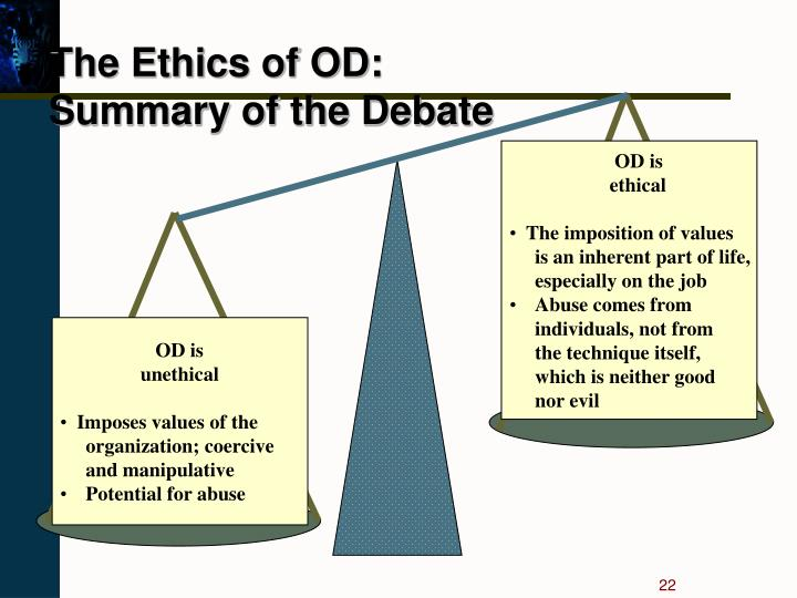 The Ethics of OD: