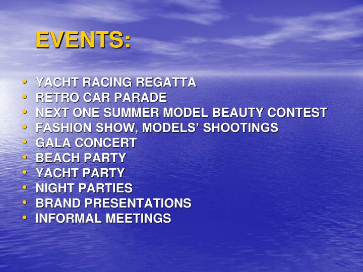 EVENTS: