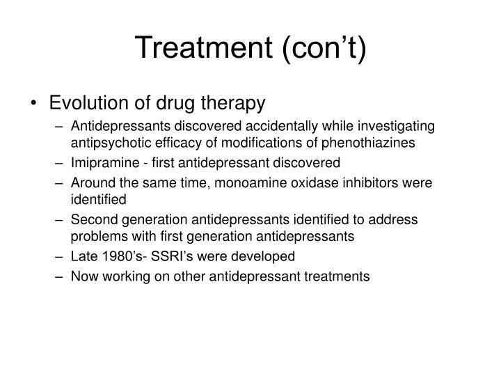 Treatment (con't)