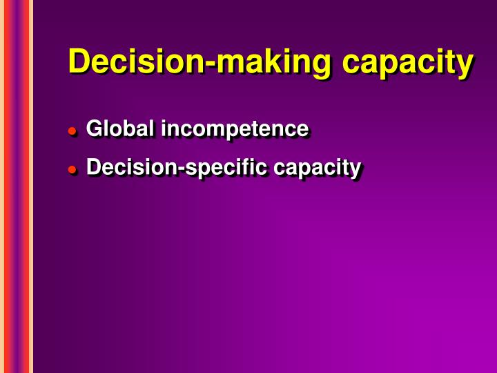 Decision-making capacity