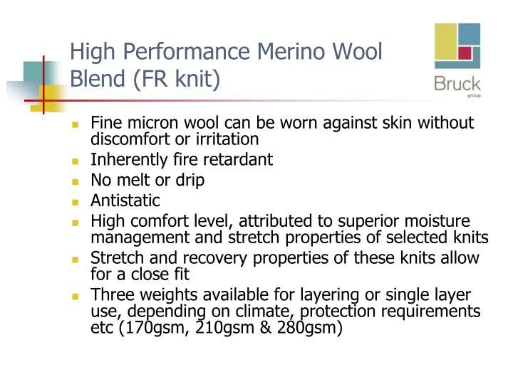 High Performance Merino Wool