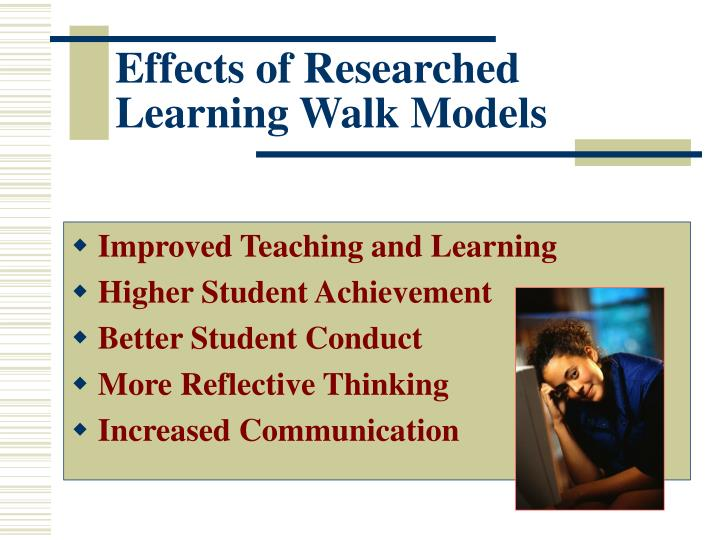 Effects of researched learning walk models