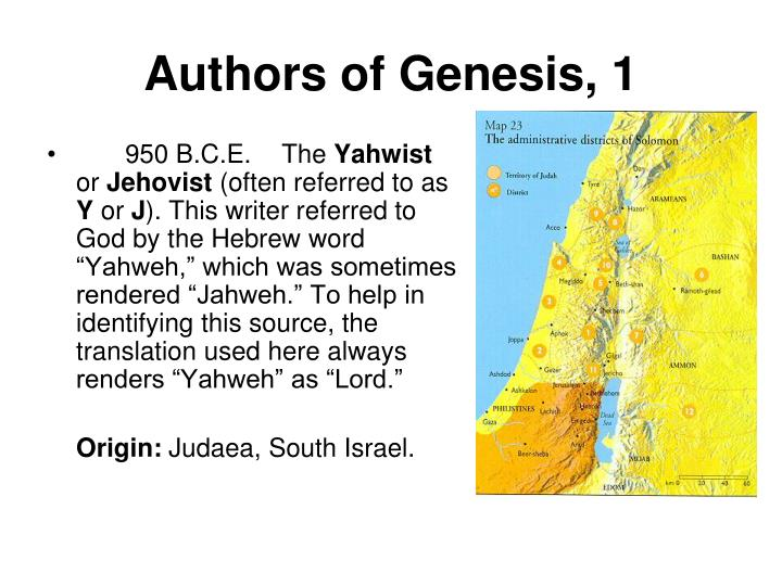 Authors of Genesis, 1