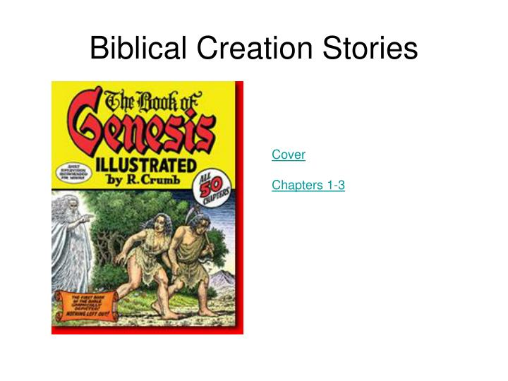 Biblical creation stories1