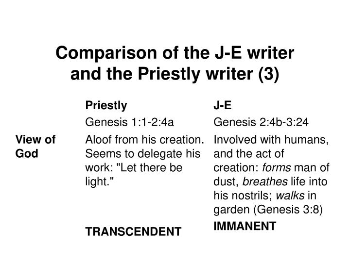 Comparison of the J-E writer