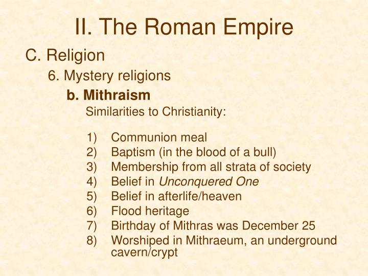 II. The Roman Empire