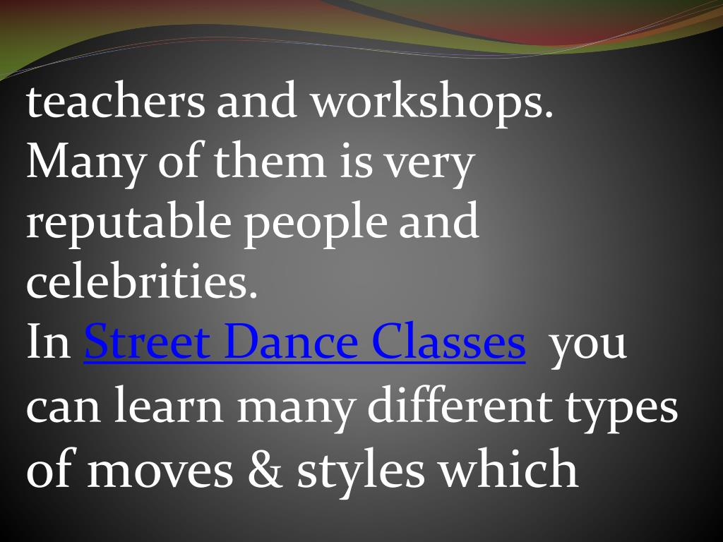 teachers and workshops. Many of them is very reputable people and celebrities.
