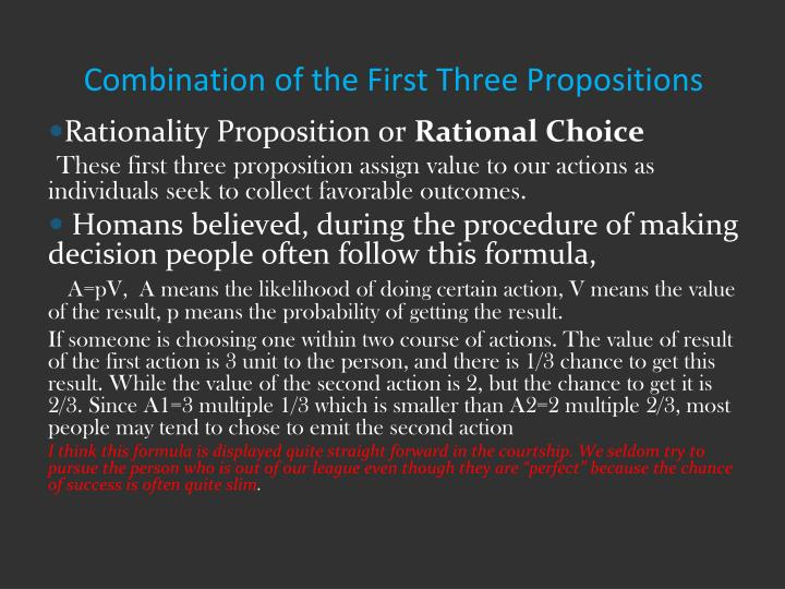 Combination of the First Three Propositions