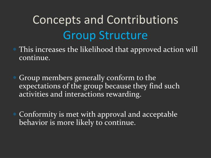 Concepts and Contributions