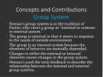 concepts and contributions group system2