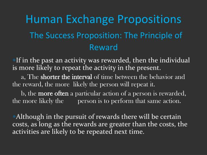 Human Exchange Propositions