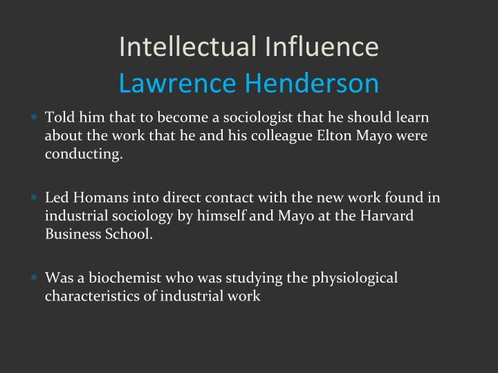 Intellectual Influence