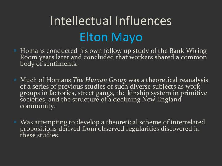 Intellectual Influences