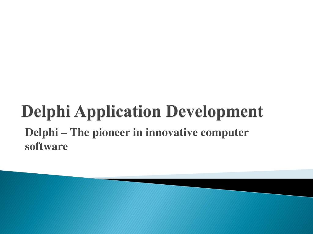 Delphi Application Development