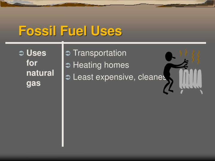 Uses for natural gas