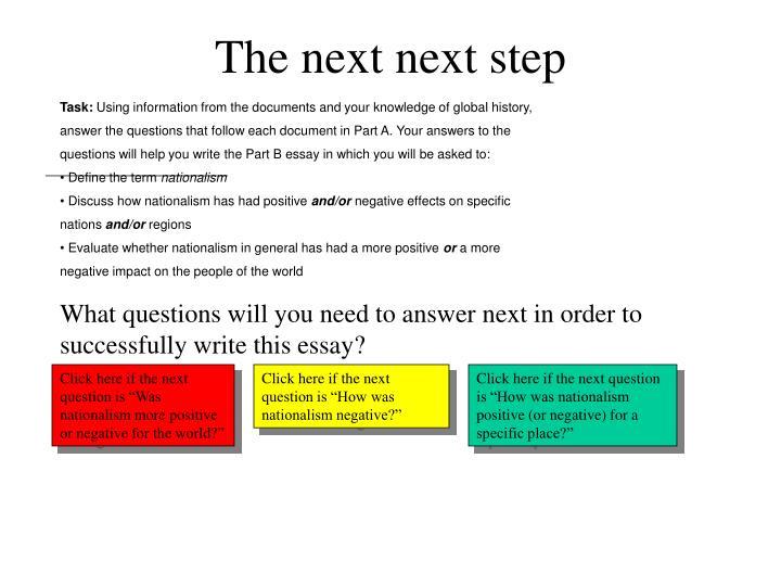 The next next step