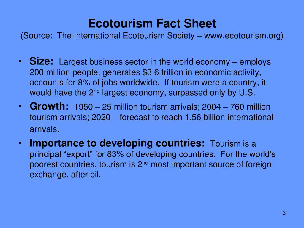Ecotourism Fact Sheet