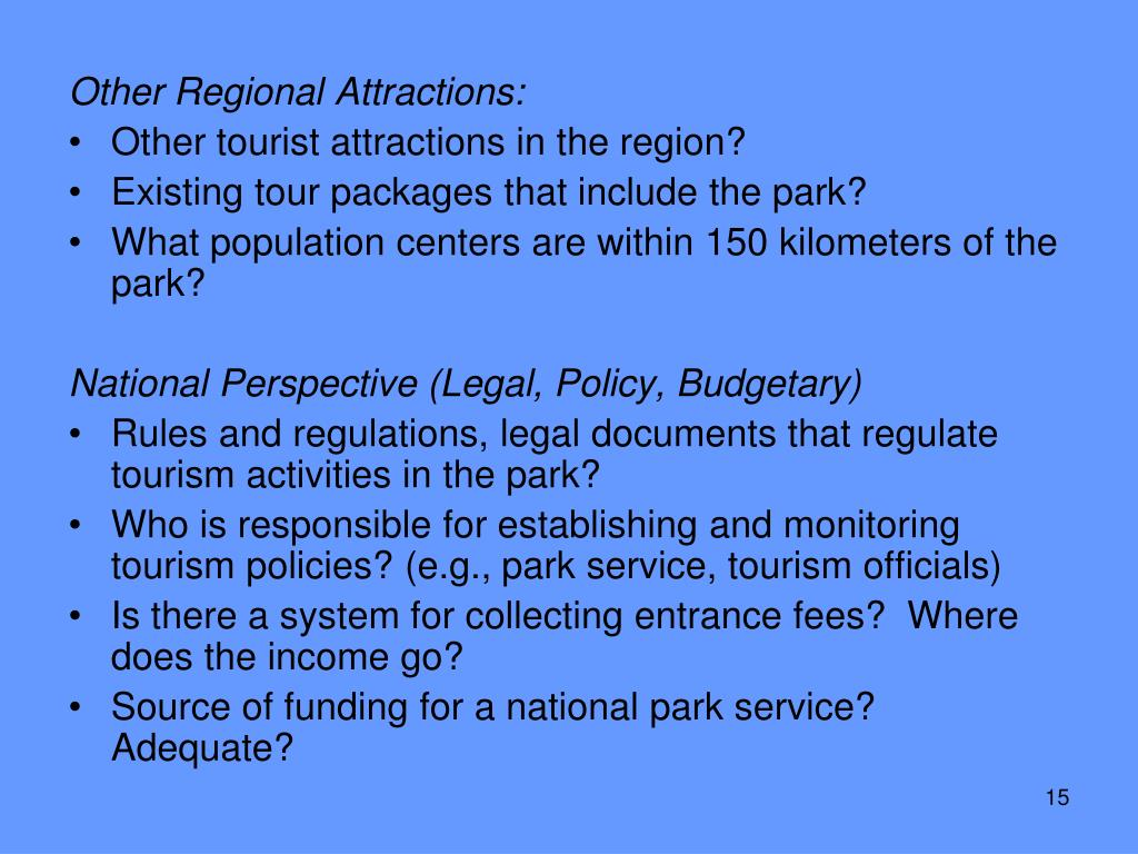 Other Regional Attractions: