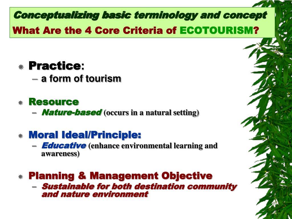 Conceptualizing basic