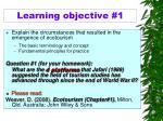 l earning objective 1