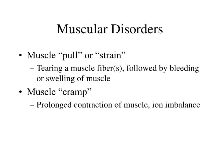 Muscular Disorders